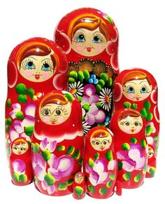GreatRussianGifts.com - Wildflowers 10 Piece Nesting Doll, http://www.greatrussiangifts.com/all-10-piece-nesting-dolls/