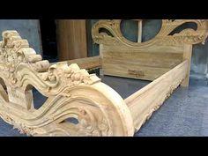 Assembling process for Teakwood hand carved 808 Queen size bed Wood Bed Design, Wooden Main Door Design, Bedroom Bed Design, Bedroom Furniture Design, Single Door Design, Wood Carving Designs, Beaded Boxes, Queen Size Bedding, Wooden Doors