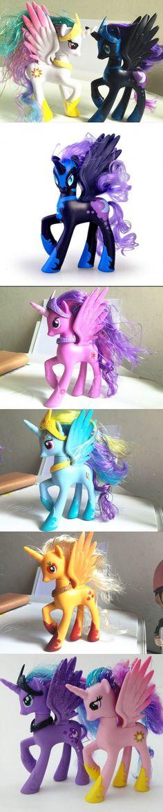 14CM MLP Rainbow Princess Little Horse Action Figure Animation Model Figures Anime Cartoon Horse Kids Toys Birthday Gift