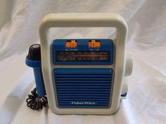 Vintage 1984 Fisher Price AM/FM Radio with Microphone # 3805 Works #FisherPrice