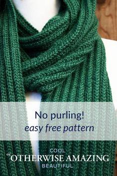 Mens Scarf Knitting Pattern, Knitting Patterns Free Dog, Mens Knitted Scarf, Rib Stitch Knitting, Free Knitting, Knit Patterns, Knitting Scarves, Crochet Man Scarf, Free Scarf Knitting Patterns