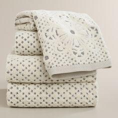 Lattice Sculpted Bath Towel Collection | World Market