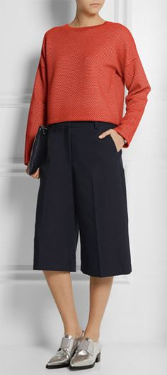 Laid back style with culottes & flats