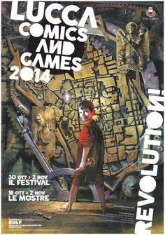 Lucca Comics & Games 2014 - Poster di Gabriele dell'Otto