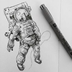 Moleskine arts космос çizilecek şeyler, drawing и çizimler. Art And Illustration, Astronaut Illustration, Astronaut Drawing, Astronaut Tattoo, Drawing Sketches, Art Drawings, Drawing Ideas, Fan Art, Art Inspo