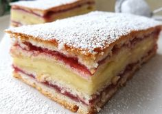 Meggyes-vaníliás süti 🥧 recept foto Hungarian Desserts, Hungarian Recipes, Sweet Recipes, Cake Recipes, Dessert Recipes, Dessert Drinks, Summer Desserts, Sweet And Salty, Keto Snacks