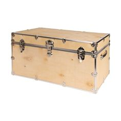 Rhino Large Natural Wood Camp Trunk | FREE SHIPPING | CampBound.com