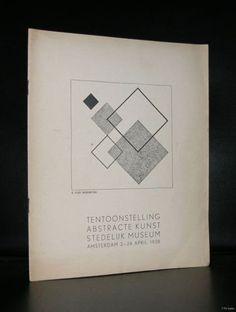 Piet Mondriaan, Stedelijk Museum #TENTOONSTELLING ABSTRACTE KUNST# 1938, nm