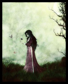 """Butterflies..."" by Kalven, Deviant Art. creepy but cool"