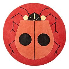 See the world of Charley Harper like never before with this exclusively designed Ladybug Rug. Based on the classic artwork from iconic wildlife artist Charley Harper, this hand-tufted rug features a bright colorful ladybug on a wool backdrop.