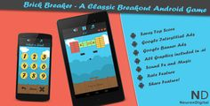 Brick Breaker - A Classic Breakout Android Game - Price $16 - Rate 4.42 stars - Avg rate 4.42 average based on 12 ratings.          (more information)