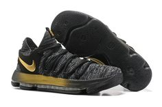 best sneakers 66847 27b5f Nike Kevin Durant Cheap Nike Zoom KD10 Black Gold 897816 001 Basketball Shoe  For Discount With