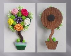 Tea Party Crafts, Baby Crafts, Craft Party, Easter Crafts, Diy And Crafts, Flower Crafts, Diy Flowers, Felt Fruit, Craft Projects