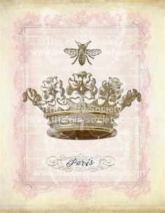Bee & crown