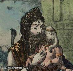 Shiva with his son ganesha