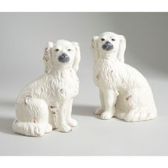 Comfort Dogs - Pair - White Ceramic     Chelsea House 380762 Hand Painted Ceramics, White Ceramics, Ceramic Painting, Polar Bear, Chelsea, Dogs, Animals, Hand Painted Pottery, Pottery Painting