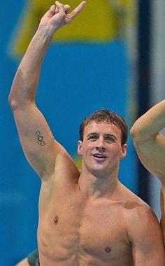 Olympic Rings Tattoos, Ryan Lochte