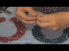Seed bead jewelry Make a Stunning Seven Row Necklace Tutorial by Jane Leivens from Beads Unlimited ~ Seed Bead Tutorials Discovred by : Linda Linebaugh Beading Techniques, Beading Tutorials, Crochet Tutorials, Video Tutorials, Necklace Tutorial, Diy Necklace, Seed Bead Jewelry, Beaded Jewelry, Pearl Jewelry