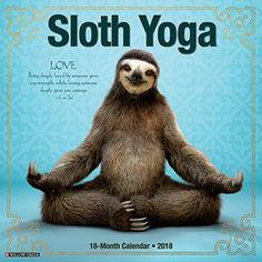 Sloth Yoga 2018 Wall Calendar Willow Creek Press