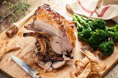 Slow Roast Pork Shoulder With Sticky Marmalade Glaze - Viva Slow Roast Pork, Pork Roast Recipes, Meat Recipes, Pork Shoulder Recipes, Pork Shoulder Roast, Sunday Recipes, Oven Dishes, Roasted Meat, Glaze Recipe