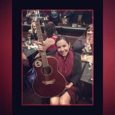 "Denise Vasquez on Instagram: ""Congrats to the lucky #winner of my #guitar during WO+MEN 4 APPLAUSE comedy show @flapperscomedy #denisevasquezpresents #Women4Applause #standupcomedy #standup #comedy #holiday #show #gift #raffle"""