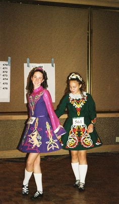 This was the 2003 Irish step dance solo dress.