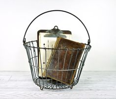 Wish List Metal Basket: want so I can put plants in it (or other fun stuff)
