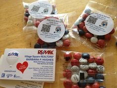 couple of our marketing ideas for open houses...personalized , Nicholas Team M&Ms!