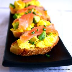 Apron and Sneakers - Cooking & Traveling in Italy: Avocado, Salmon & Egg Crostini  #health #nutrition