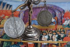 Britannia Silver Coin and British Silver Coin on Scale