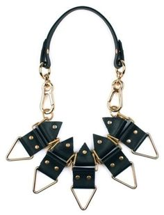 Moxham-Anubis-gold-plated-and-leather-necklace for sale