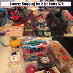 Grocery Shopping for 2 for under $70 --A Writer Cooks. View the post at http://www.awritercooks.com/grocery-shopping-and-meal-plan-june-27/