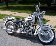 Photo of 1997 Harley Davidson Softail Heritage Springer Classic FLSTS Motorbike. #harleydavidsonsoftailheritage