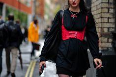 streetsnaps london fashion week mishbv rihanna fenty puma chanel celine vans