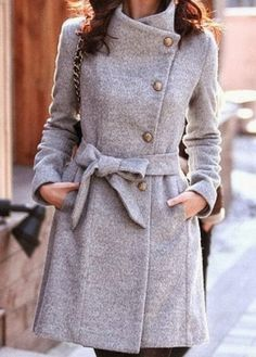 Grey coat for Fall #fallstyle #fashionista