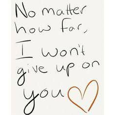 Won't Give up on you