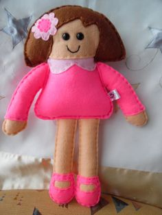 Doll / Felt Doll by DaisyFelts on Etsy