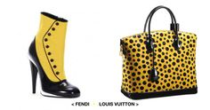 #fendi shoes with #louisvuitton bag. all in YELLOW.