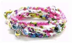 "Fabric Wrap Bracelets. ""All of Same Sky's pieces are handcrafted by HIV-positive Rwandan women who survived the 1994 genocide in their country (during which more than 250,000 women were brutally raped, many infected with HIV as a result)."""