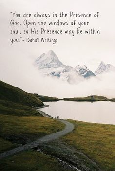 always in the Presence of God #Bahai Quotes, pilgrim's note from the book Ten Days in Akka