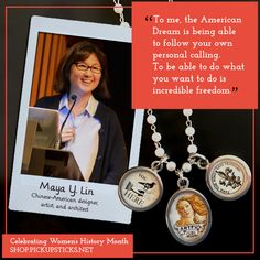 Today's jewelry charm selection celebrates Maya Lin, Chineese-American designer, artist, and architect. Civil Rights Memorial, Maya Lin, Southern Poverty Law Center, Beautiful Compliments, Freedom Travel, Pick Up Sticks, Chinese American, Do What You Want, Create Words