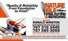 The Power Of 8: Nature Isle Steel Cutting & Bending