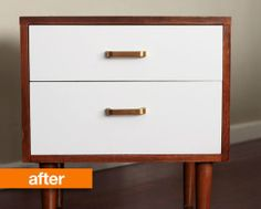 Before &amp After: Laura's Refreshed Nightstand — January Cure Reader Projects