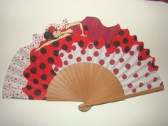 Abanícate con la vida: EXISTE UN LUGAR.... Painted Fan, Hand Painted, Hand Held Fan, Hand Fans, Fan Decoration, Vintage Fans, Umbrellas Parasols, Vintage Vanity, Costume Accessories