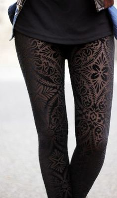 Burned Velvet Leggings