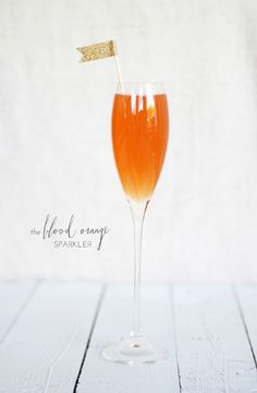 Blood Orange Sparkler - Grand Marnier, San Pellegrino Sparkling Blood Orange Soda, Champagne or Prosecco.