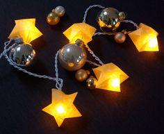 Origami Sterne 3D falten Faltanleitung Lichterkette basteln Sterne selber machen Anleitung DIY kostenlos fertig 2