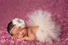 Newborn Tutu Baby Tutu Tutu Set Ivory Tutu by EmilyzEmbellishments, $23.99