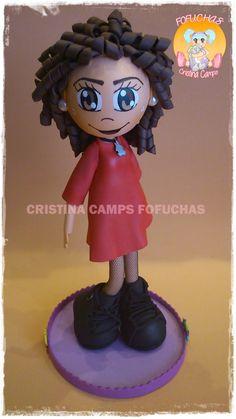 Cristina Camps Fofuchas: FOFUCHA CON VESTIDO ROJO