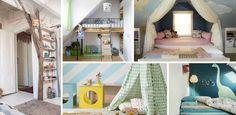 Quel enfant n'a jamais rêvé d'avoir une cabane dans sa chambre ? A défaut d'avoir des parents super cools (mais surtout ça n'existait pas tellement à notre époque)... Decoration, Girl Room, Bunk Beds, Playroom, Toddler Bed, New Homes, Interior, Inspiration, House